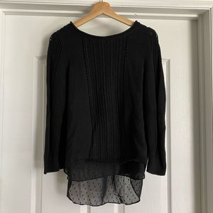Lucky brand knit layers sweater